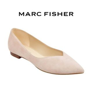 Marc Fisher Analia Suede Pointed Toe Flats